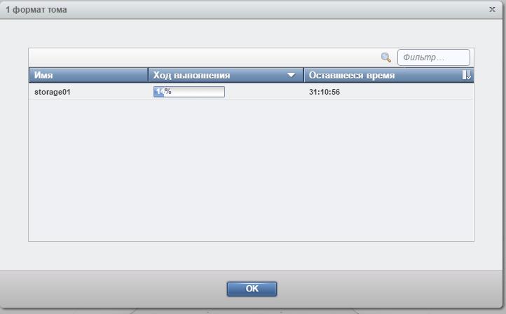 ibm storwize v3700 formatting volume