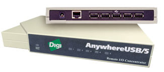 AnywhereUSB/ 5 и AnywhereUSB/5 with Multi-Host Connections - две пятипортовые модели.