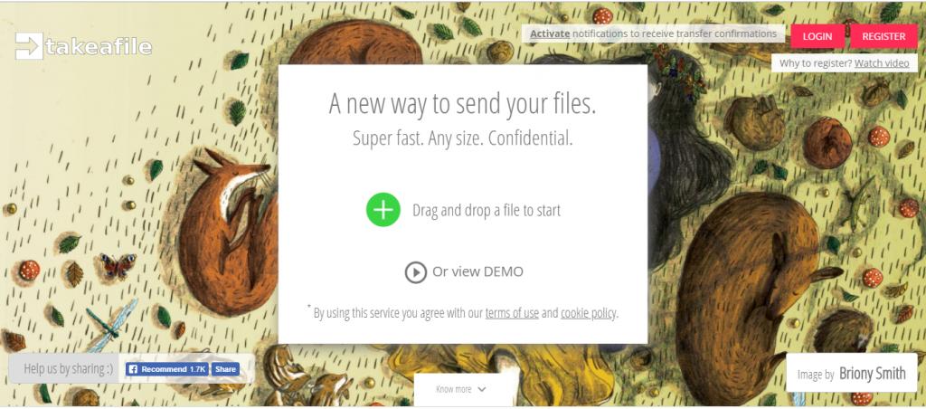 Передать файл объемом до 500 Гб через интернет бесплатно. Обзор сервиса takeafile на pingmeup.ru