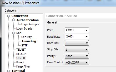 Выставляем параметры для подключения к ИБП по COM порту.
