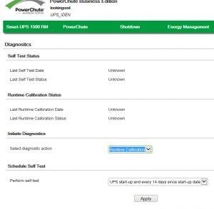 Проводим калибровку ИБП APC Smart-UPS с помощью PowerShute